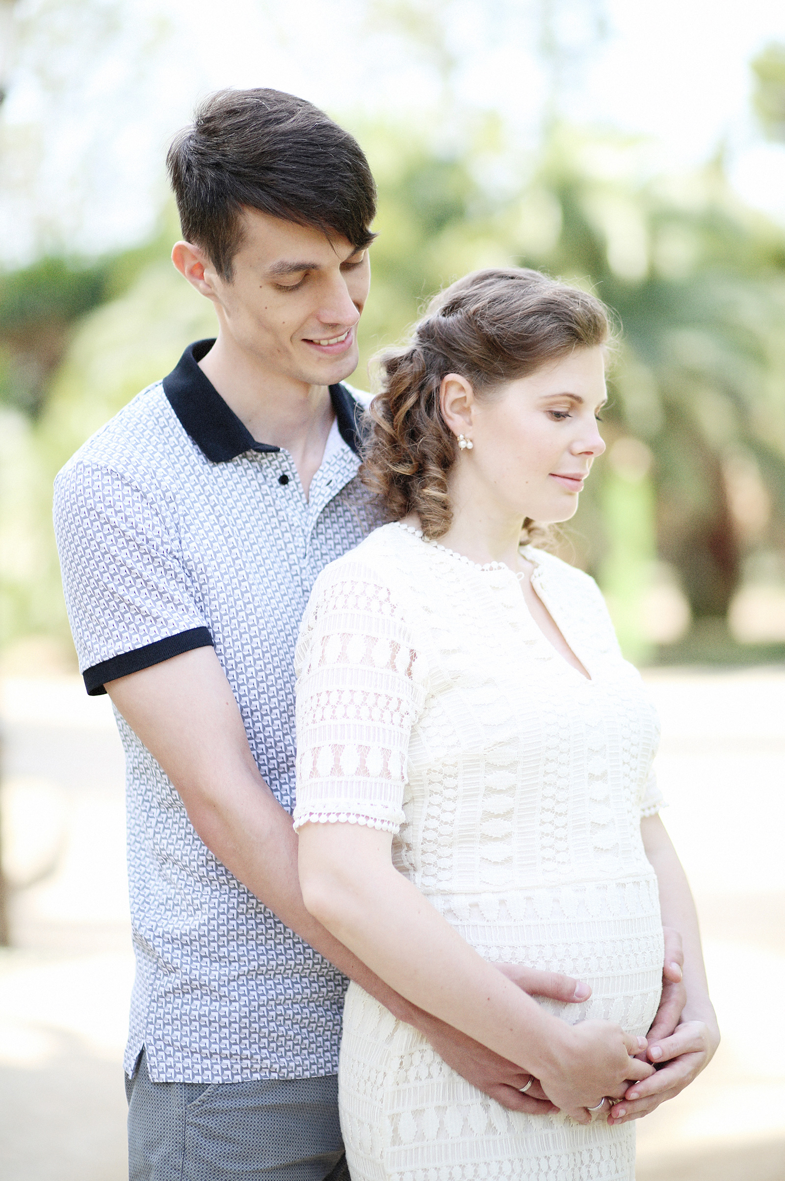 Maternity photo session in Barcelona