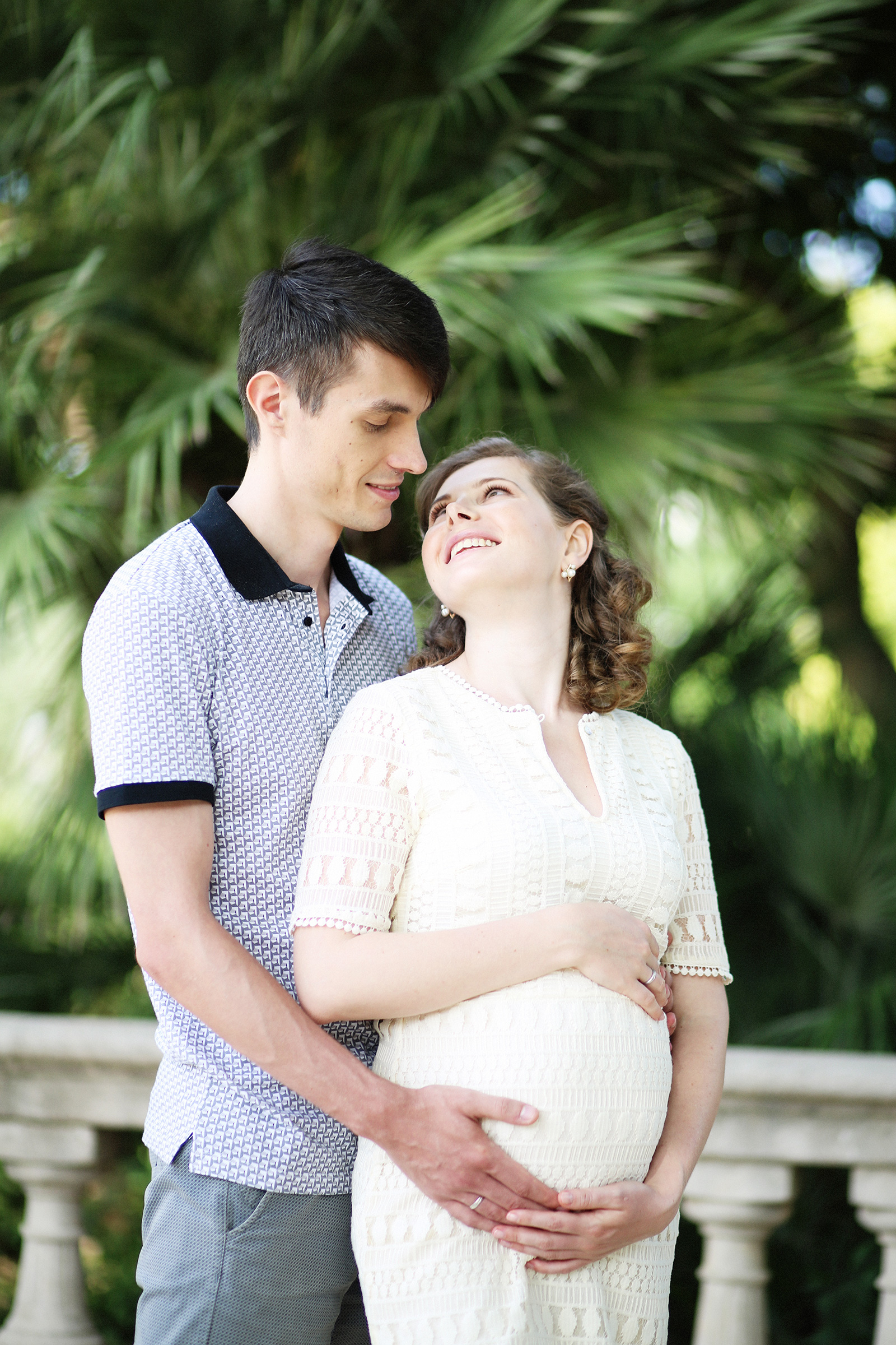 Maternity photo shoot Barcelona Parc de la Ciutadela