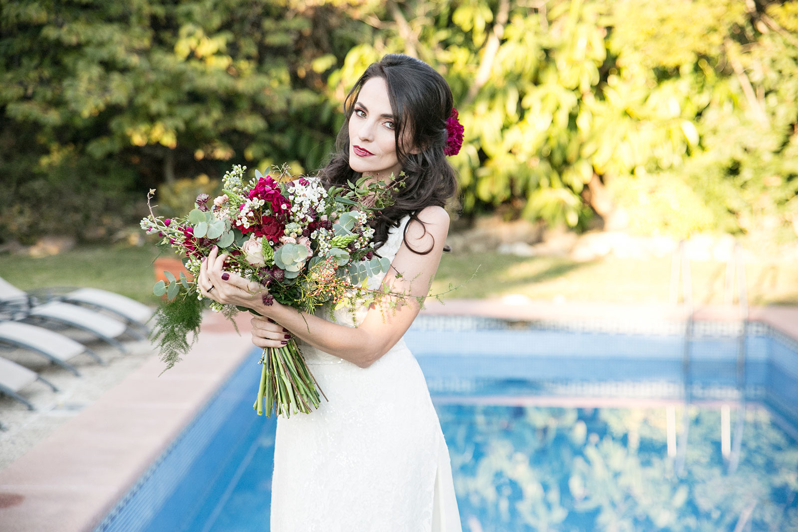 Bridal shoot at Villa Maresme