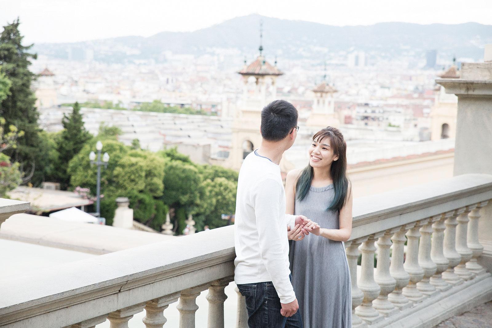 Surprise proposal Barcelona
