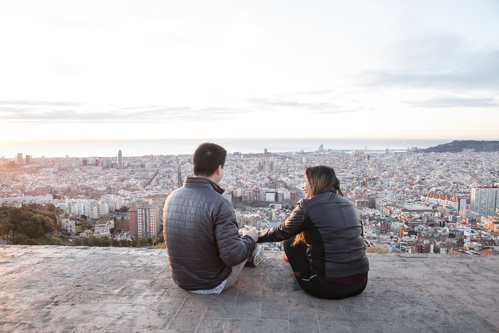 Barcelona surprise proposal photographer