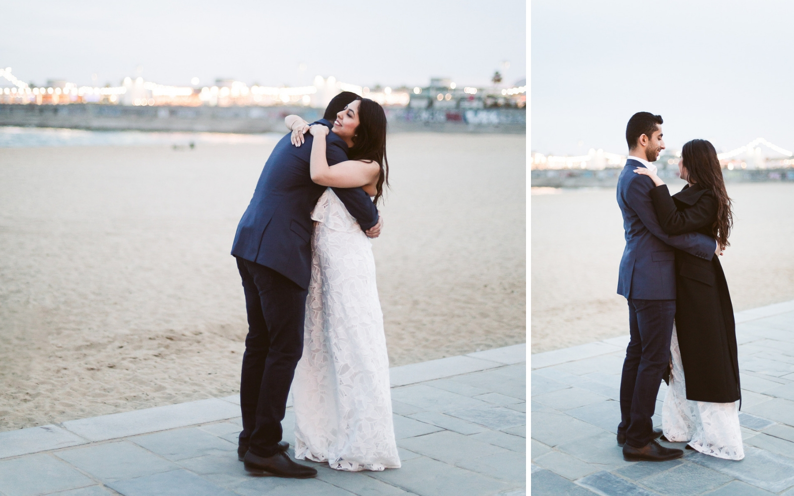 Engagement photo session at the beach in Barcelona
