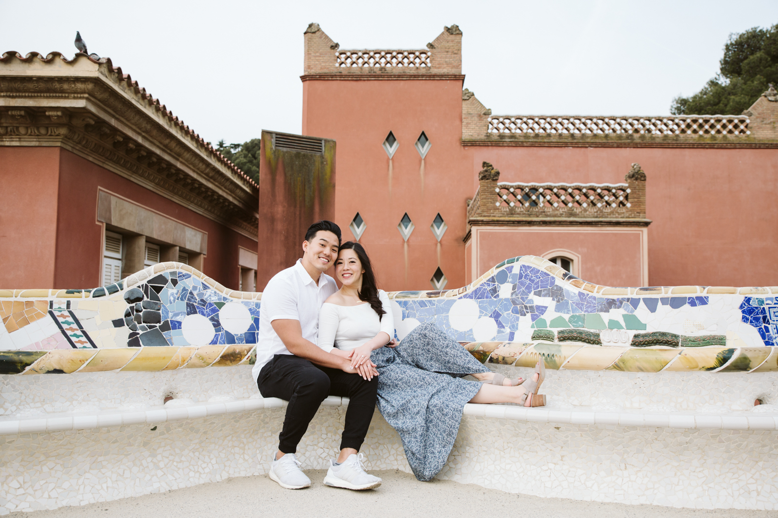 Surprise proposal in Barcelona Park Guell   Natalia Photography