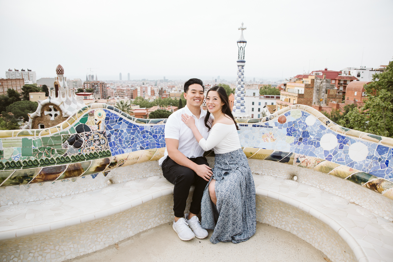 Surprise proposal in Park Guell in Barcelona   Natalia Photography
