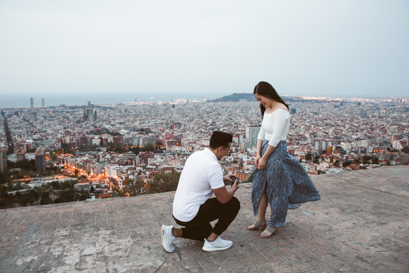 Surprise proposal in Barcelona   Natalia Photography