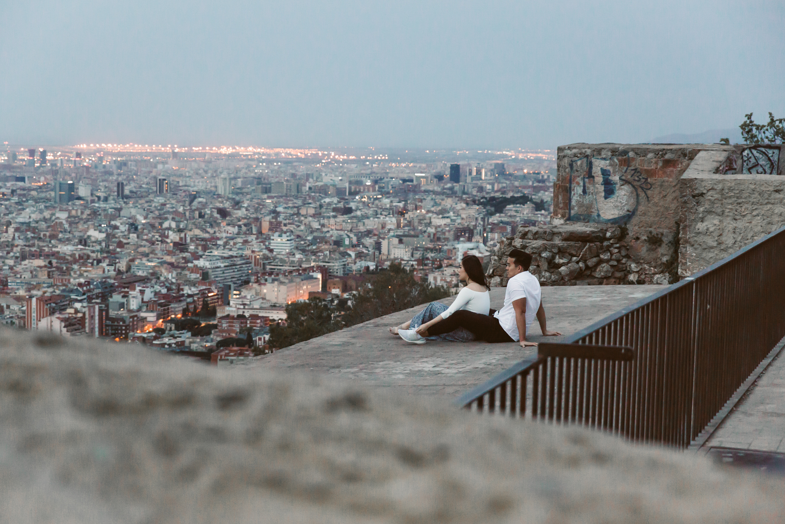 Marriage proposal in Barcelona   Natalia Photography