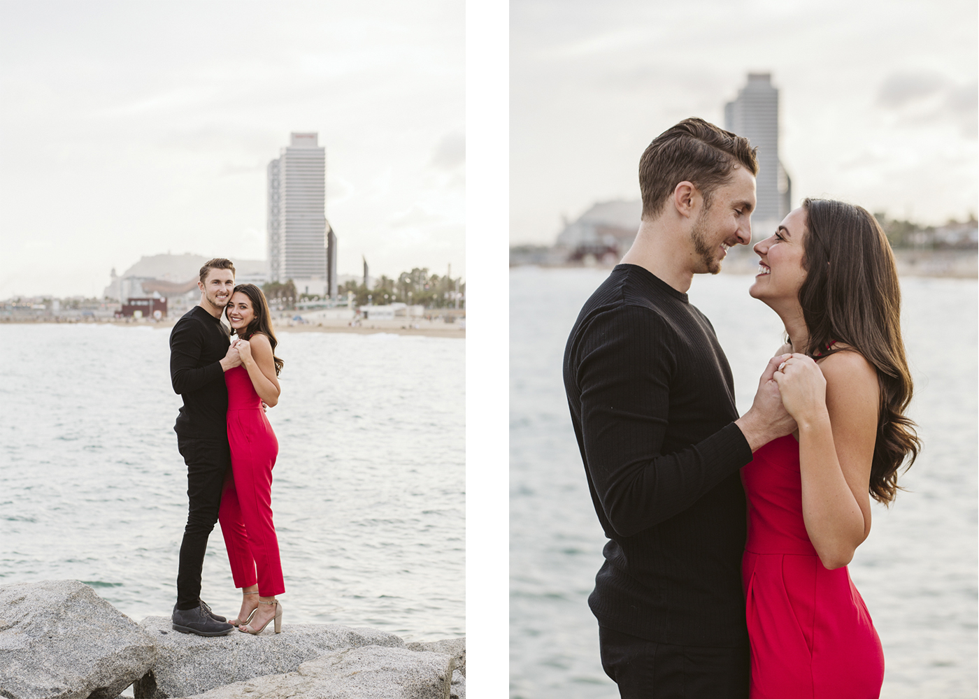 Marriage proposal at the beach in Barcelona | Natalia Photography