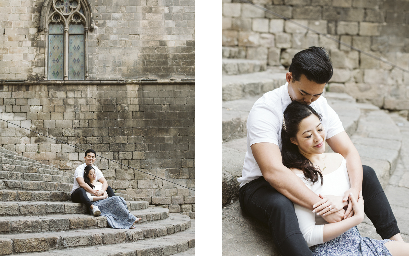 Engagement photo session in Barcelona   Natalia Photography