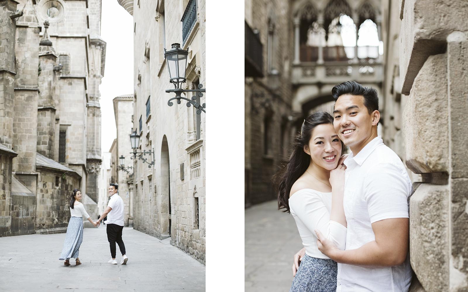 Engagement photo session in Gotico Barcelona   Natalia Photography
