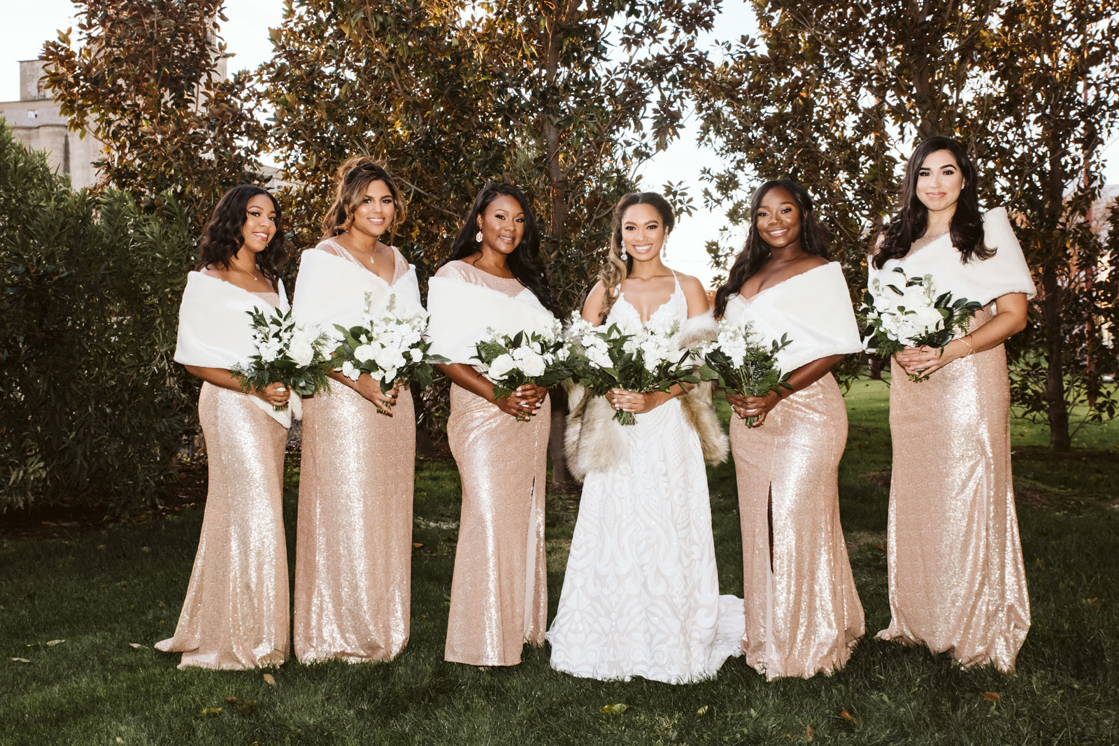 Bridal party, destination wedding photographer