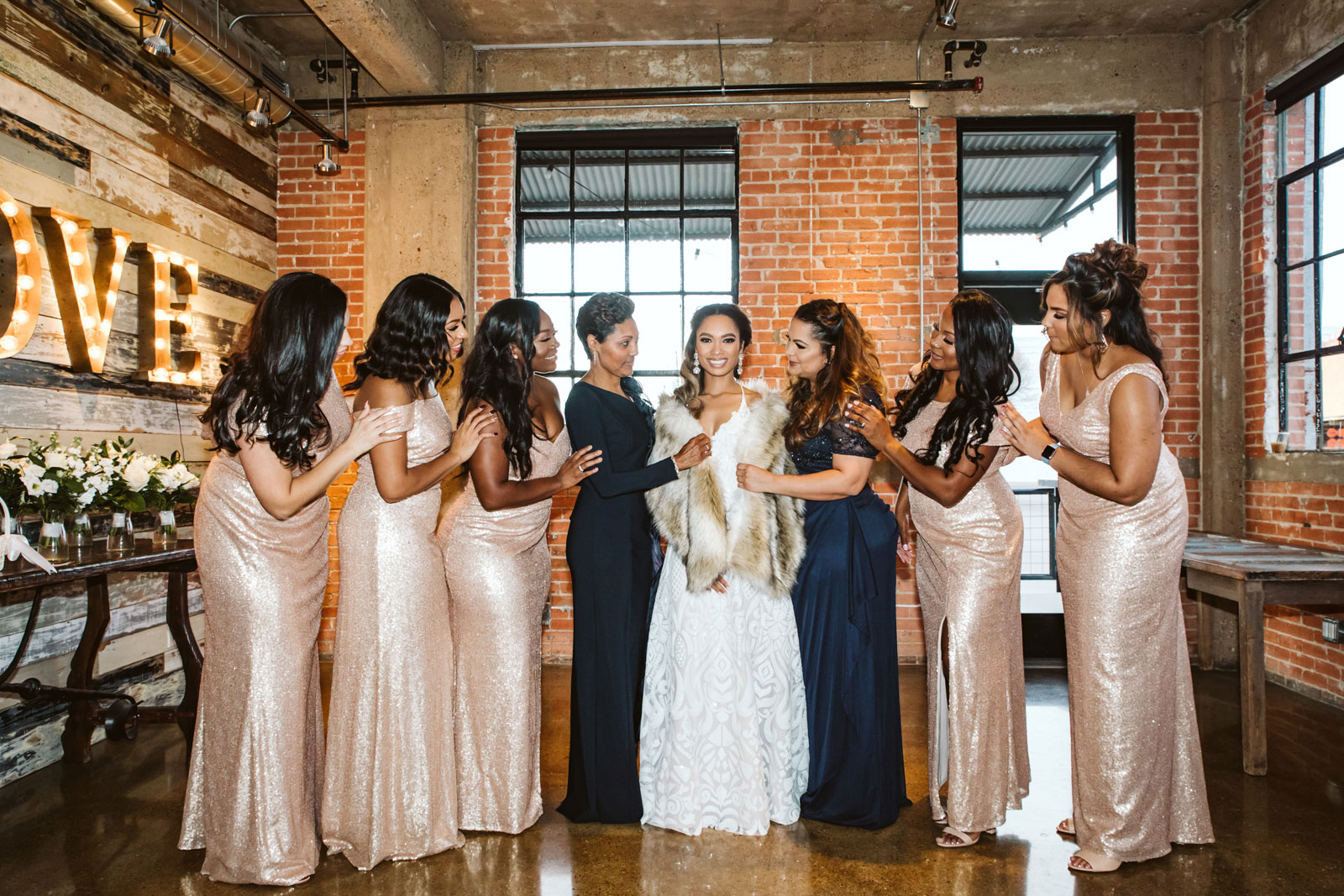 Bride and the bridal party, destination wedding photographer Barcelona | Natalia Wisniewska Photography