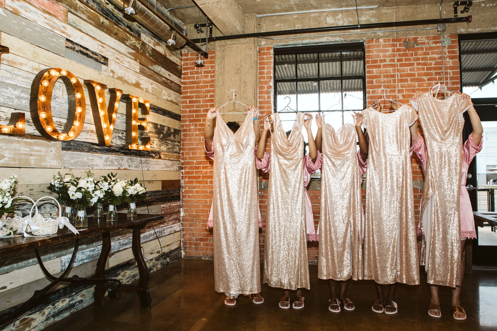 Bridal party dresses, destination wedding photographer Barcelona